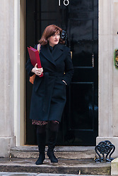 London, February 3rd 2015. Members of the cabinet gather at Downing Street for their weekly meeting. PICTURED: Nicky Morgan, Secretary of State for Education, Minister for Women and Equalities