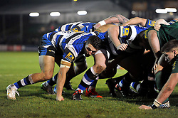 Sam Burgess of Bath Rugby in action during his first ever game as a rugby union forward - Photo mandatory by-line: Patrick Khachfe/JMP - Mobile: 07966 386802 22/12/2014 - SPORT - RUGBY UNION - Bath - Recreation Ground - Bath United v London Irish A - Aviva A-League