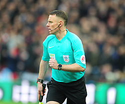 STUART BURT ASSISTANT REFEREE, EFL Cup Final, Manchester United v Southampton FC, Wembley Stadium Sunday 26th February 2017