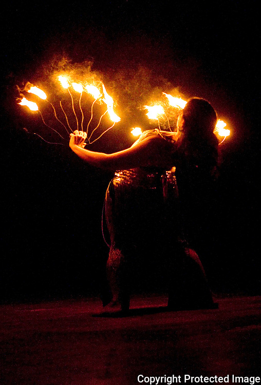 Fire dancing at Festival De La Diversisdad