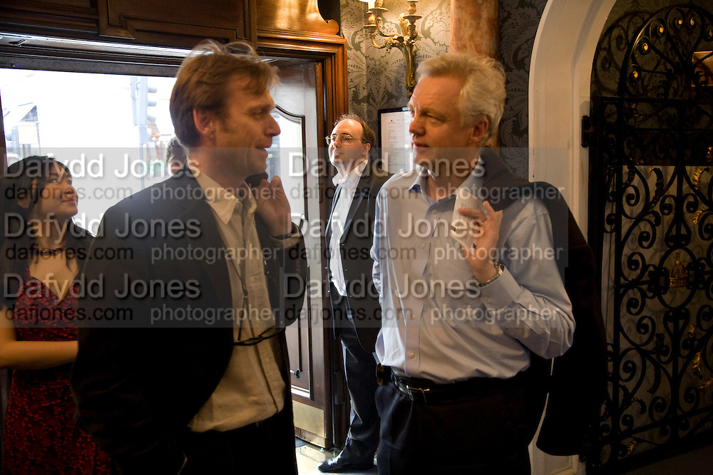TOM PORTEUS AND DAVID DAVIES M.P. ,  'Cries from the Heart' presented by Human Rights Watch at the Theatre Royal Haymarket. London. Party afterwards at the Haymarket Hotel. June 8, 2008 *** Local Caption *** -DO NOT ARCHIVE-© Copyright Photograph by Dafydd Jones. 248 Clapham Rd. London SW9 0PZ. Tel 0207 820 0771. www.dafjones.com.