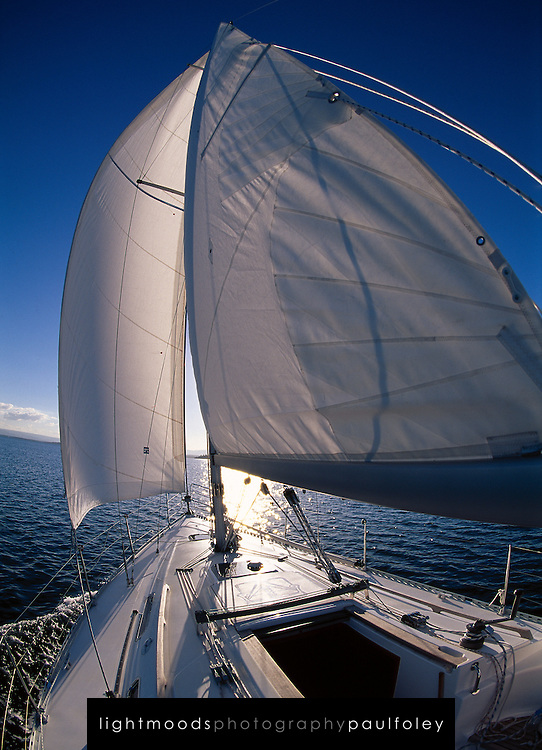 Sailing on Lake macquarie, Australia