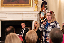 October 31, 2018 - Washington, District of Columbia, U.S. - Woman speaks during event. President Trump, I. Trump, and L. Kudlow participate in the 'Our Pledge to America's Workers' event at White House. (Credit Image: ? White House/ZUMA Wire/ZUMAPRESS.com)