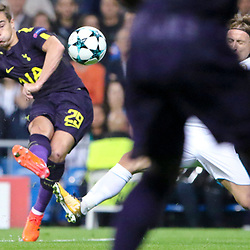 Harry Winks of Tottenham Hotspurin action during Uefa Champions League (Group H) match between Real Madrid and Tottenham Hotspur at Santiago Bernabeu Stadium on October 17, 2017 in Madrid  (Spain) (Photo by Luis de la Mata / SportPix.org.uk)