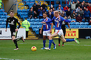 Carlisle United Midfielder Jason Kennedy scores the opening goal during the Sky Bet League 2 match between Carlisle United and York City at Brunton Park, Carlisle, England on 23 January 2016. Photo by Craig McAllister.