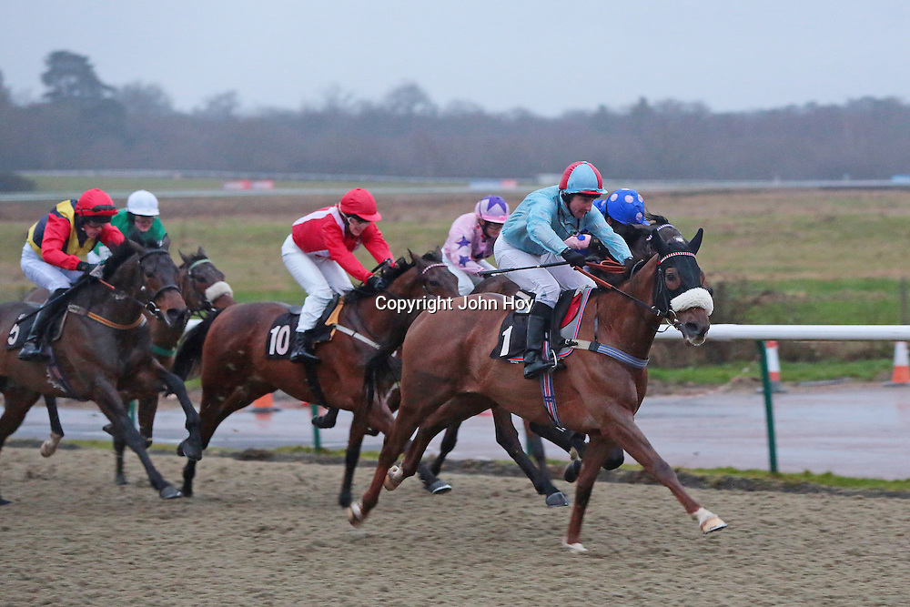 Swift Blade and Mr S Walker winning the 4.15 race