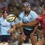 Kurtley Beale in action during the Super14 match between the New South Wales Waratahs and Queensland Reds at the Sydney Football Stadium, Sydney, Australia on March 6, 2009. The Waratah's won the match 15-11. Photo by Tim Clayton.