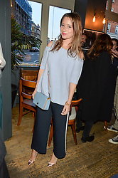 KELLY EASTWOOD at a quiz night hosted by Zoe Jordan to celebrate the launch of her men's ZJKNITLAB collection held at The Larrick Pub, 32 Crawford Place, London on 20th April 2016.
