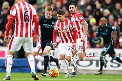 Bojan Krkic of Stoke City is chased by Kevin de Bruyne of Manchester City  - Mandatory byline: Matt McNulty/JMP - 07966 386802 - 05/12/2015 - FOOTBALL - Britannia Stadium - Stoke, England - Stoke City v Manchester City - Barclays Premier League