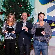 NLD/Hilversum/20121207 - Skyradio Christmas Tree, jury, Kim Kotter, Tom Sebastian en Dyanne Beekman