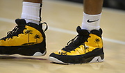 Dec 19, 2013; Long Beach, CA, USA; General view of the Nike jumpman Air Jordan shoes of Long Beach State 49ers guard Tyler Lamb during the game against the Southern California Trojans at Walter Pyramid. Long Beach State defeated USC 72-71.