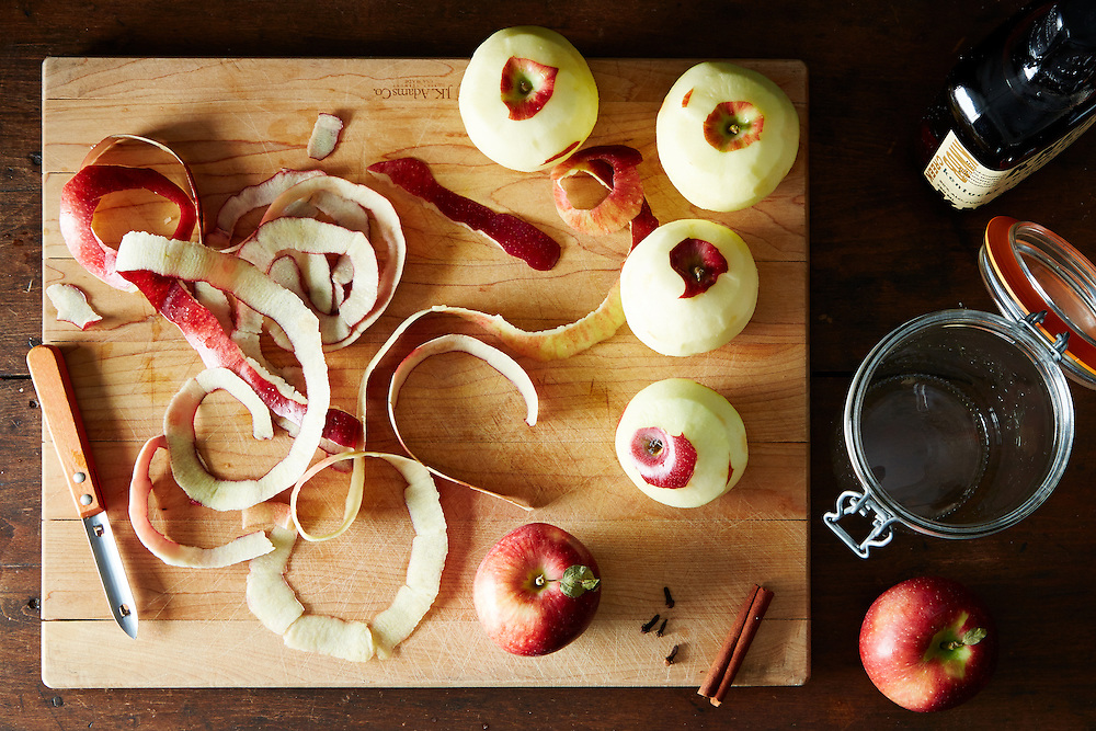 Apple Peel Infused Bourbon