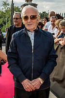 Charles Aznavour <br /> &quot;Il bel mondo&quot; de Belmondo au chateau de la Buzine, qui a appartenu a Marcel Pagnol&nbsp;<br />  <br /> A partir du 30&nbsp;juin, Marseille fete Jean-Paul Belmondo avec l&rsquo;exposition au chateau de la Buzine IUne invitation a decouvrir des photos issues de la collection personnelle de l&rsquo;acteur ainsi que des pieces liees aux roles qu&rsquo;il a tenus. JP Belmondo etait present pour le vernissage et le diner de gala organise en pr&eacute;sence de quelque uns de ses amis tels que Charles Aznavour, Charles Gerard, Robert Hossein, Candice Patou, Michele Mercier, Louis Acaries ou encore Antoine Dulery, Moussa Maaskri...La soiree etait animee par Valerie&nbsp;Fedele, directrice du lieu.