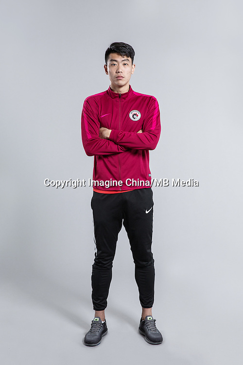 Portrait of Chinese soccer player Feng Boyuan of Liaoning Whowin F.C. for the 2017 Chinese Football Association Super League, in Foshan city, south China's Guangdong province, 24 January 2017.