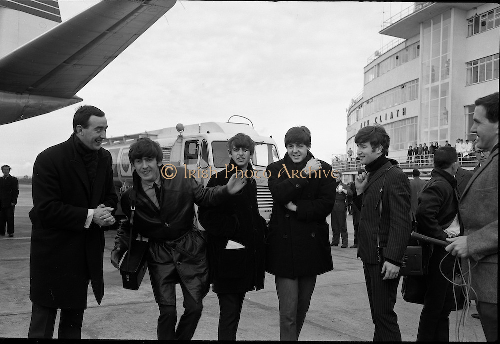 The Beatles arrive in Ireland to play their only gig in the country in the Adelphi Cinema on 7 November 1963.<br />