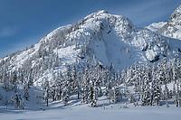 Mount Herman in winter, North Cascades Washington