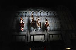 Ralph Lauren unique 4D light installation event, celebrating the launch of the UK ecommerce site, held at Ralph Lauren, 1 New Bond Street, London W1 on 10th November 2010.  Picture Shows:-RALPH LAUREN 4D LIGHT INSTALLATION ON THEIR STORE ON NEW BOND STREET LONDON.