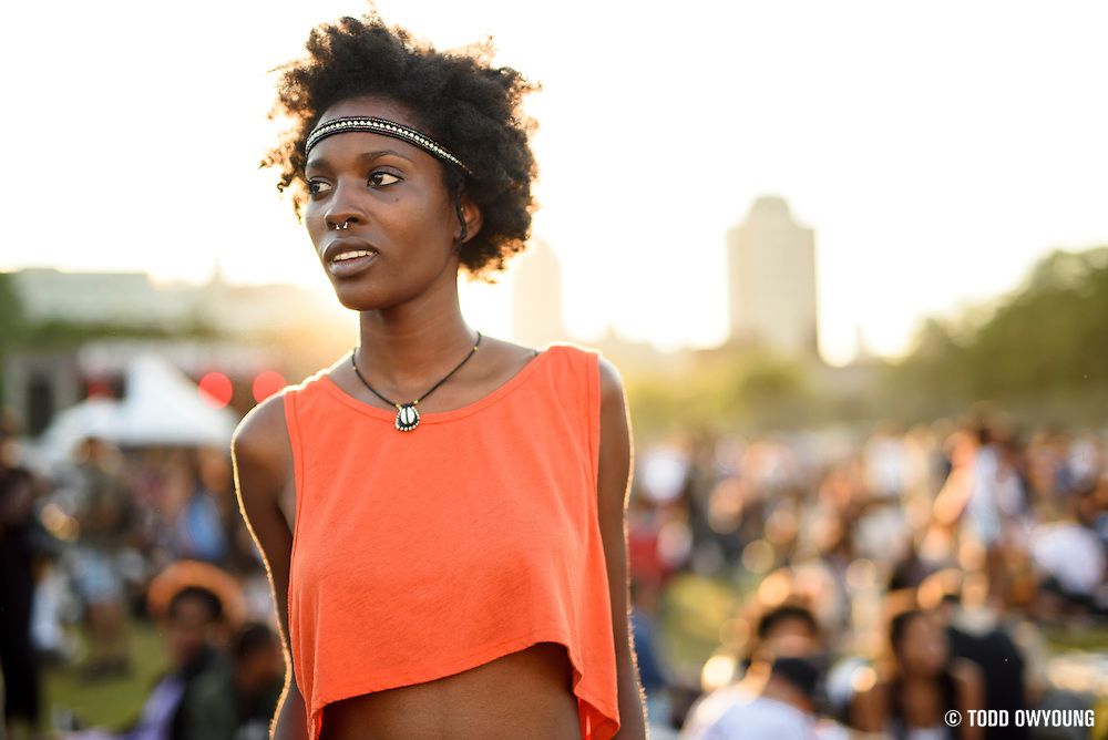 Attendees at the 2014 Afropunk Music Festival in Brooklyn, NY on August 24, 2014.