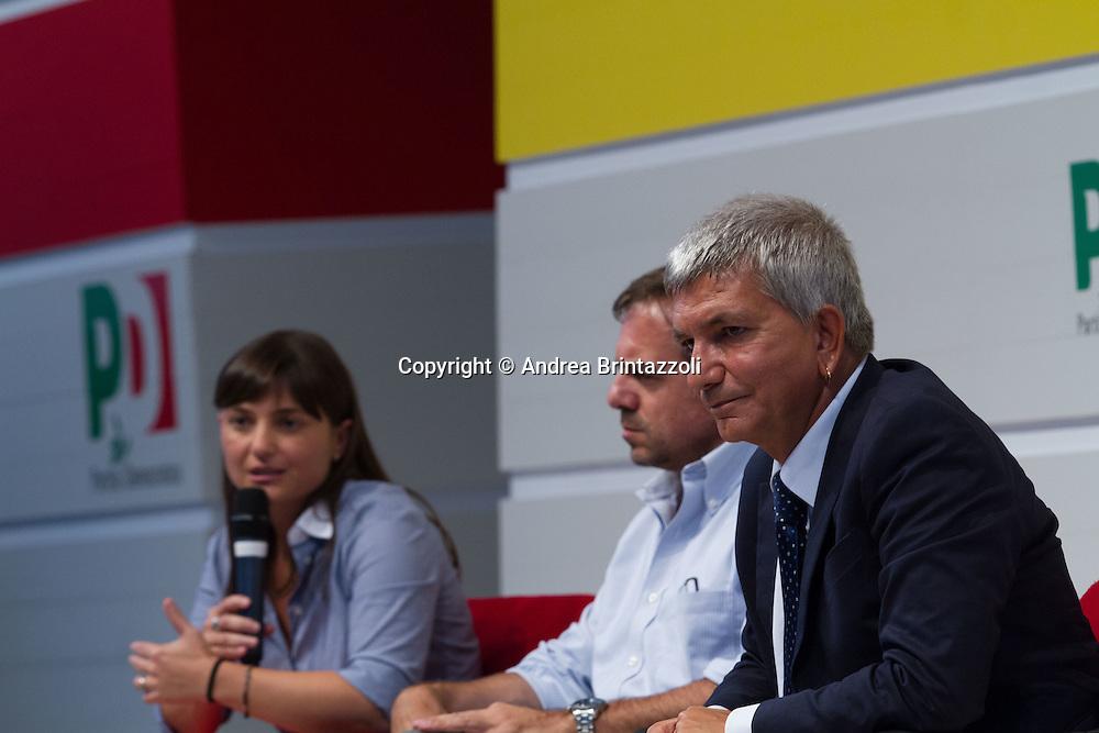 Bologna 05 settembre 2014 - Festa de l'Unità. Dibattito: Alla ricerca della buona politica e della buona amministrazione. Nella foto Debora Serracchiani, Nichi Vendola