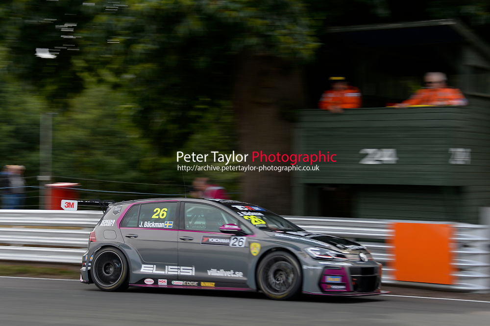 #26 Jessica BACKMAN (SWE) WestCoast Racing Volkswagen Golf GTI TCR  during TCR UK Championship  as part of the BRSCC TCR UK Race Day Oulton Park  at Oulton Park, Little Budworth, Cheshire, United Kingdom. August 04 2018. World Copyright Peter Taylor/PSP. Copy of publication required for printed pictures.  Every used picture is fee-liable. http://archive.petertaylor-photographic.co.uk