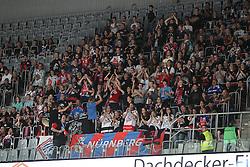 03.10.2014, SAP Arena, Mannheim, GER, DEL, Adler Mannheim vs Thomas Sabo Ice Tigers, 7. Runde, im Bild mitgereiste Fans der Ice Tigers, Emotionen // during germans DEL Icehockey League 7th round match between Adler Mannheim and Thomas Sabo Ice Tigers at the SAP Arena in Mannheim, Germany on 2014/10/03. EXPA Pictures © 2014, PhotoCredit: EXPA/ Eibner-Pressefoto/ Neis<br /> <br /> *****ATTENTION - OUT of GER*****