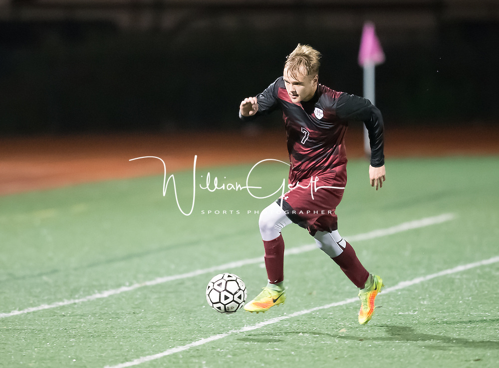 Sacred Heart Prep vs Prospect in a CCS Boys Soccer Game at Prospect High School, Saratoga CA on 2/22/17 Sacred Heart Prep 1 Prospect 0, (Photograph by William Gerth)