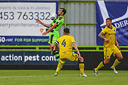 Forest Green Rovers Christian Doidge(9) controls the ball during the Pre-Season Friendly match between Forest Green Rovers and Bristol Rovers at the New Lawn, Forest Green, United Kingdom on 22 July 2017. Photo by Shane Healey.
