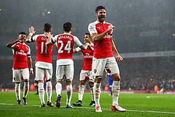 Goal, Olivier Giroud of Arsenal scores, Arsenal 1-0 Everton - Mandatory byline: Jason Brown/JMP - 07966386802 - 24/10/2015 - FOOTBALL - Emirates Stadium - London, England - Arsenal v Everton - Barclays Premier League
