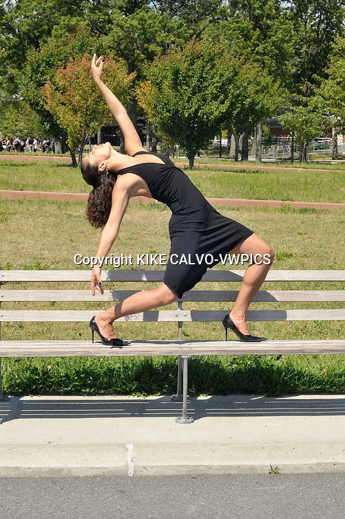MR - Model released picture of a italian descent actress and dancer in Flushing Meadow Park in Queens.