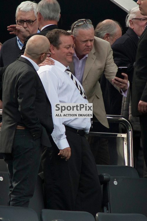 Mike Ashley, selfie prior to the Newcastle v West Ham, Barclays Premiership match at St James&rsquo; Park, Newcastle 24 May 2014<br />