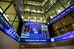 © London News Pictures. 12/02/2013 . London, UK. General view of the entrance to the London Stock Exchange on the day that Mayor of London, Boris Johnson opened trading.  Photo credit : Ben Cawthra/LNP