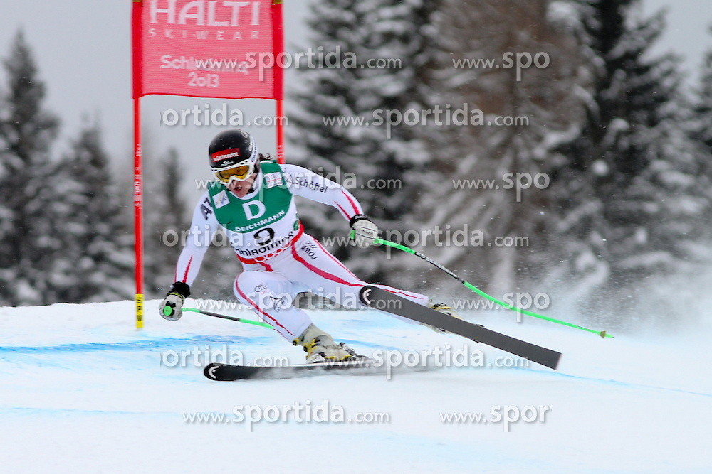 07.02.2013, Planai, Schladming, AUT, FIS Weltmeisterschaften Ski Alpin, 2. Training Abfahrt,  Damen, im Bild Elisabeth Goergl (AUT) // Elisabeth Goergl of Austria in action during 2nd practice of the ladies downhill at the FIS Ski World Championships 2013 at the Planai Course, Schladming, Austria on 2013/02/07. EXPA Pictures © 2013, PhotoCredit: EXPA/ Martin Huber