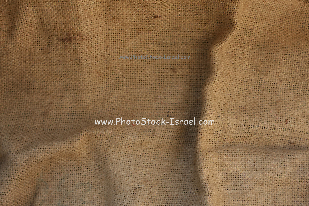 Jute material as a background