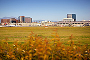 Airplanes And Terminals At John Wayne Airport, Irvine California