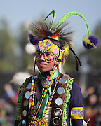 SAN BERNARDINO, CALIFORNIA - OCTOBER 13: The San Manuel Band of Indians hold their annual Pow Wow on October 13, 2012 in San Bernardino. Dances include the Grass, Chicken and Fancy dances.<br />
