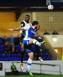 Bristol Rovers' Nathan Blissett  wins a header - Photo mandatory by-line: Neil Brookman/JMP - Mobile: 07966 386802 - 22/11/2014 - Sport - Football - Chester - Deva Stadium - Chester v Bristol Rovers - Vanarama Football Conference