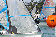 MIAMI, February 2, 2013 - Close competition at the upwind mark