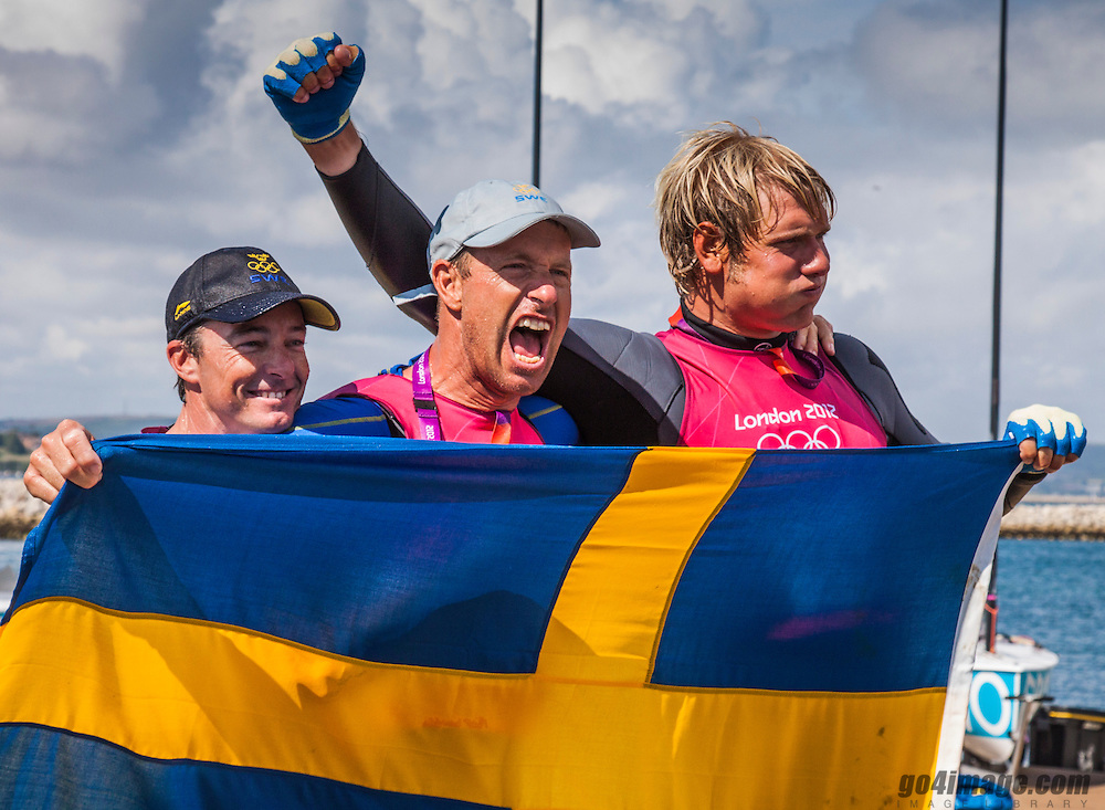 London / WeymouthGOLD medal Star class<br /> Loof Fredrik, Salminen Max, (SWE, Star)<br /> <br /> <br /> 2012 Olympic Games <br /> London / Weymouth