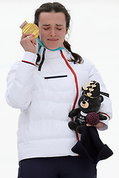 BOCHET_Marie, ParaSkiAlpin, Para Alpine Skiing, Slalom, Podium during the PyeongChang2018 Winter Paralympic Games, South Korea.