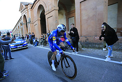 Elia Viviani (ITA) Deceuninck-Quick Step on the San Luca climb during Stage 1 of the 2019 Giro d'Italia, an individual time trial running 8km from Bologna to the Sanctuary of San Luca, Bologna, Italy. 11th May 2019.<br /> Picture: Eoin Clarke | Cyclefile<br /> <br /> All photos usage must carry mandatory copyright credit (© Cyclefile | Eoin Clarke)