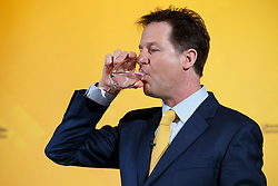 © Licensed to London News Pictures. 07/04/2015. LONDON, UK. Liberal Democrat leader Nick Clegg holding a press conference at National Liberal Club in London on Monday, 7 April 2015. Photo credit : Tolga Akmen/LNP