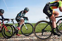 Maria Vittoria Sperotto (ITA)  battles up the VAMberg cobbles at Drentse 8 van Westerveld 2019, a 145 km road race starting and finishing in Dwingeloo, Netherlands on March 15, 2019. Photo by Sean Robinson/velofocus.com