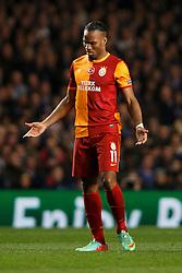 Galatasaray Forward Didier Drogba (CIV) looks frustrated - Photo mandatory by-line: Rogan Thomson/JMP - 18/03/2014 - SPORT - FOOTBALL - Stamford Bridge, London - Chelsea v Galatasaray - UEFA Champions League Round of 16 Second leg.