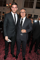 Left to right, OLIVER JACKSON and JOHN ZAMMETT Head of PR at Audi UK at the Audi Ballet Evening held at the Royal Opera House, Bow Street, Covent Garden, London on 22nd March 2012.