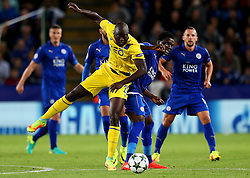 Danilo Pereira of FC Porto clashes with Daniel Amartey of Leicester City  - Mandatory by-line: Matt McNulty/JMP - 27/09/2016 - FOOTBALL - King Power Stadium - Leicester, England - Leicester City v FC Porto - UEFA Champions League