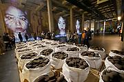 Kassel, Germany. Opening days of documenta14.<br /> Neue Neue Galerie.<br /> Dan Peterman: Kassel Ingot Project (Iron), 2017