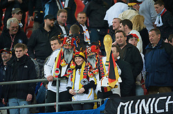 CARDIFF, WALES - Wednesday, April 1, 2009: Germany supporters during the 2010 FIFA World Cup Qualifying Group 4 match at the Millennium Stadium. (Pic by David Rawcliffe/Propaganda)
