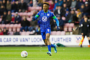 Wigan Athletic forward Jamal Lowe in action during the EFL Sky Bet Championship match between Wigan Athletic and Huddersfield Town at the DW Stadium, Wigan, England on 14 December 2019.