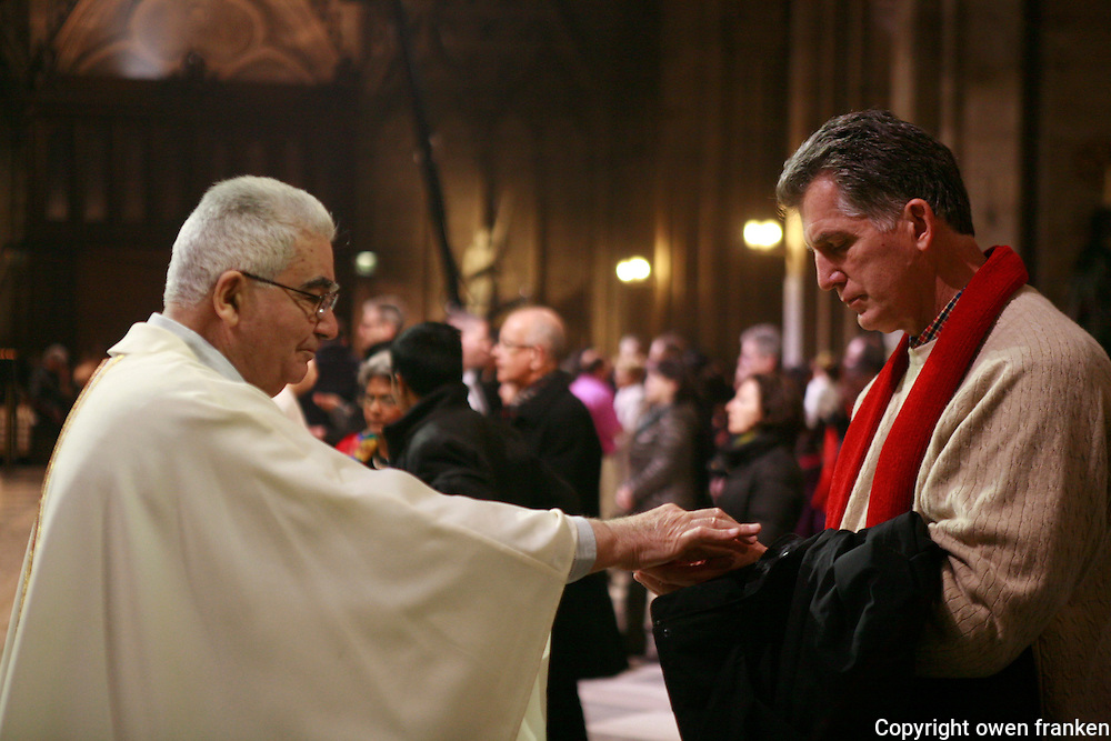 Christmas Eve Mass at Notre Dame Cathedral, Paris.