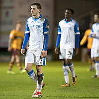 Motherwell v St Johnstone…06.02.18…  Fir Park…  SPFL<br />Blair Alston trudges off at full time<br />Picture by Graeme Hart. <br />Copyright Perthshire Picture Agency<br />Tel: 01738 623350  Mobile: 07990 594431